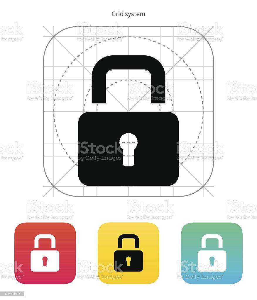 Padlock close icon. royalty-free stock vector art