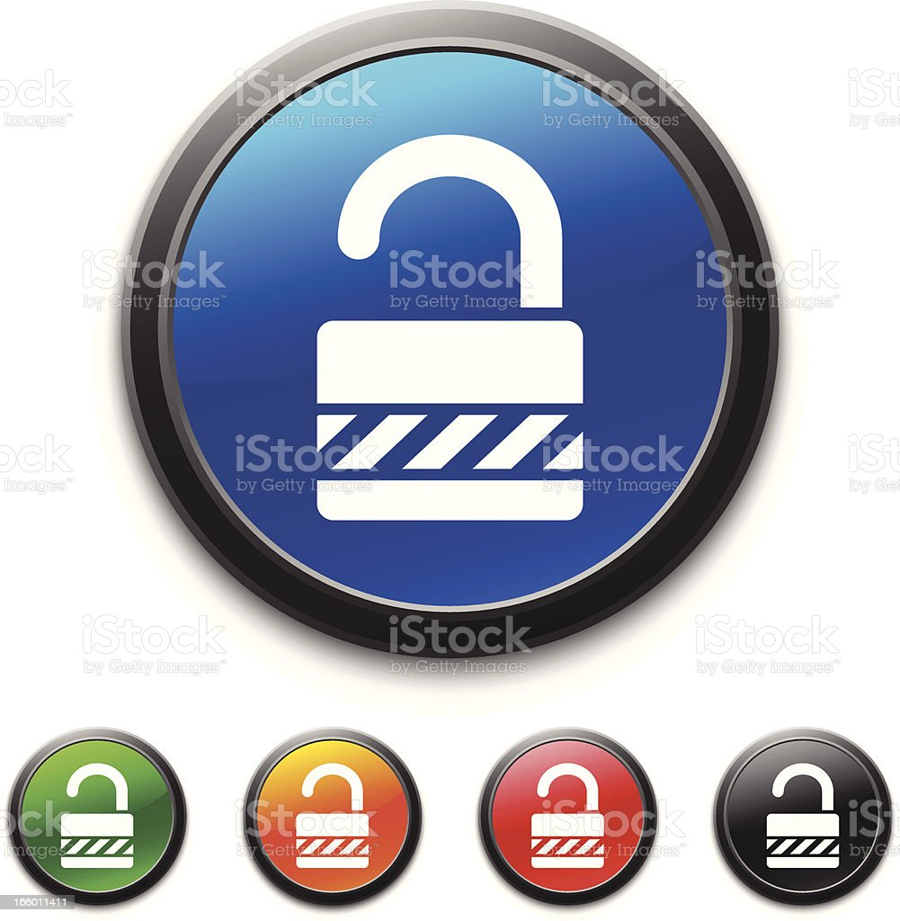 Padlock icon royalty-free stock vector art