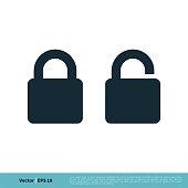 istock Padlock Icon Vector Logo Template Illustration Design. Vector EPS 10. 1251330719