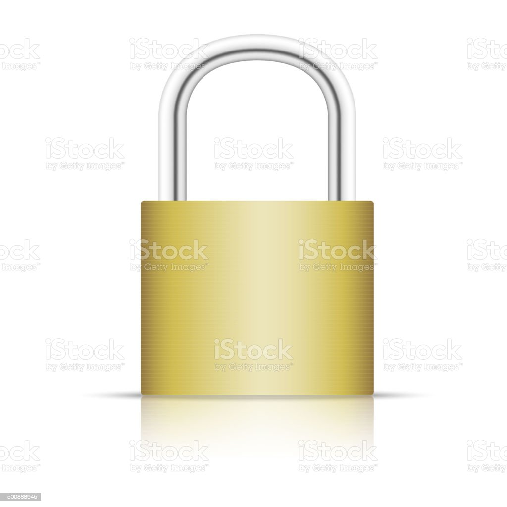 Padlock isolated on white background. royalty-free padlock isolated on white background stock vector art & more images of circle
