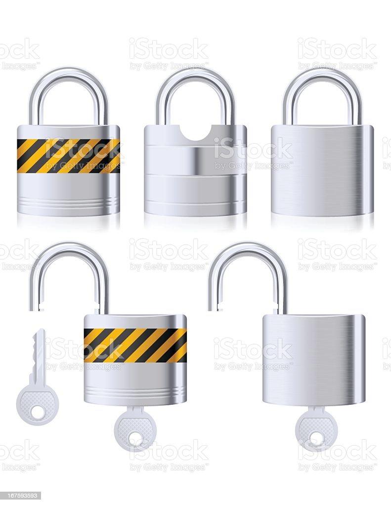 Padlocks And Keys royalty-free padlocks and keys stock vector art & more images of brushed metal