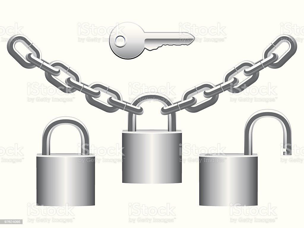 Cadenas ensemble. cadenas ensemble – cliparts vectoriels et plus d'images de acier libre de droits