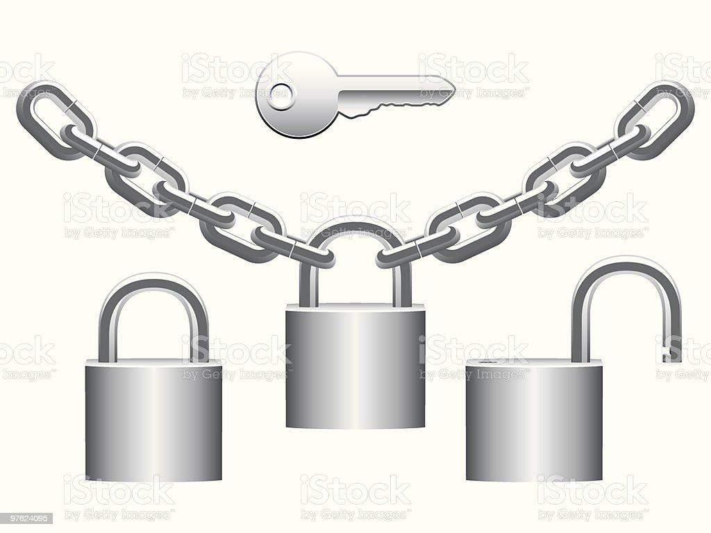 Padlocks set. royalty-free padlocks set stock vector art & more images of chain