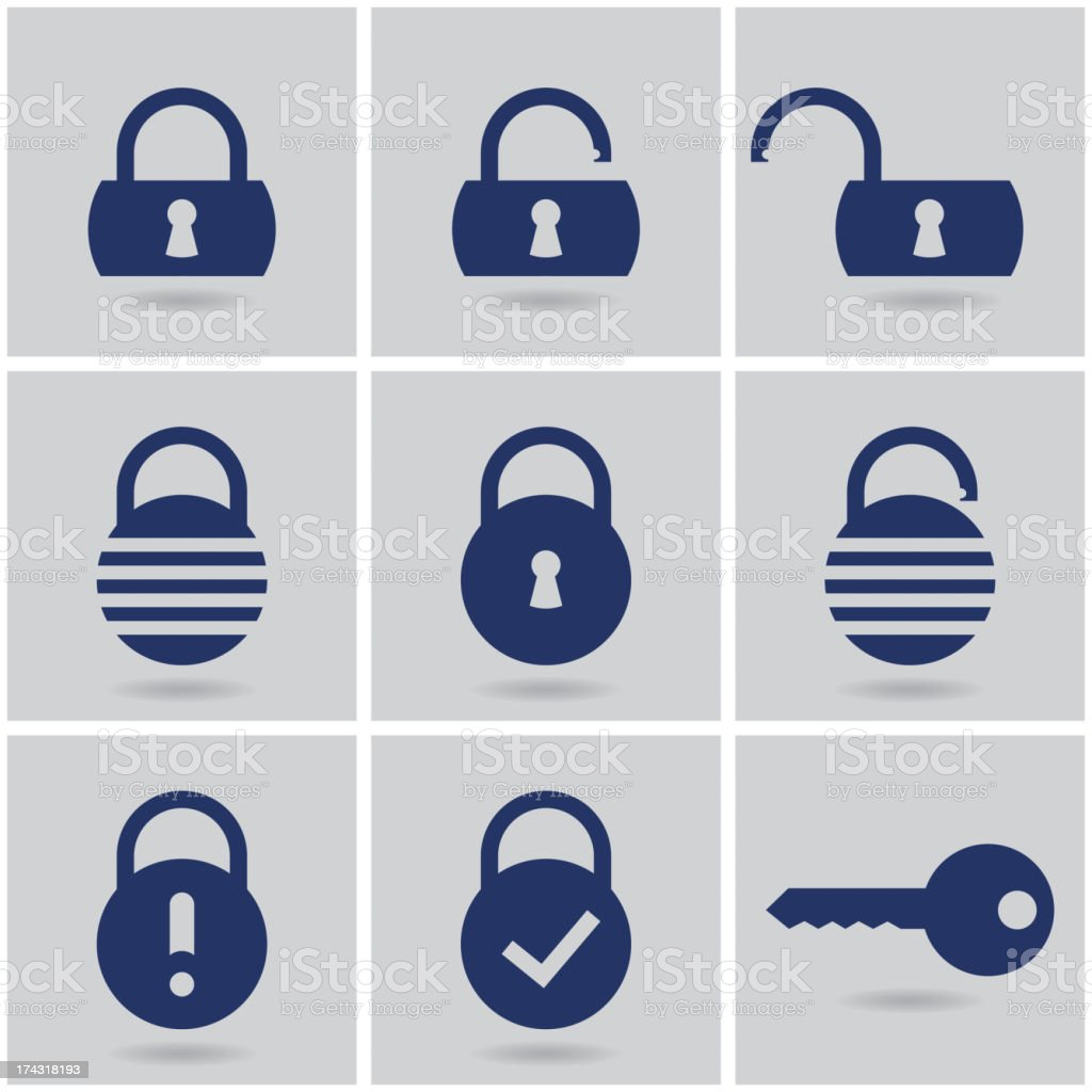 padlocks royalty-free stock vector art