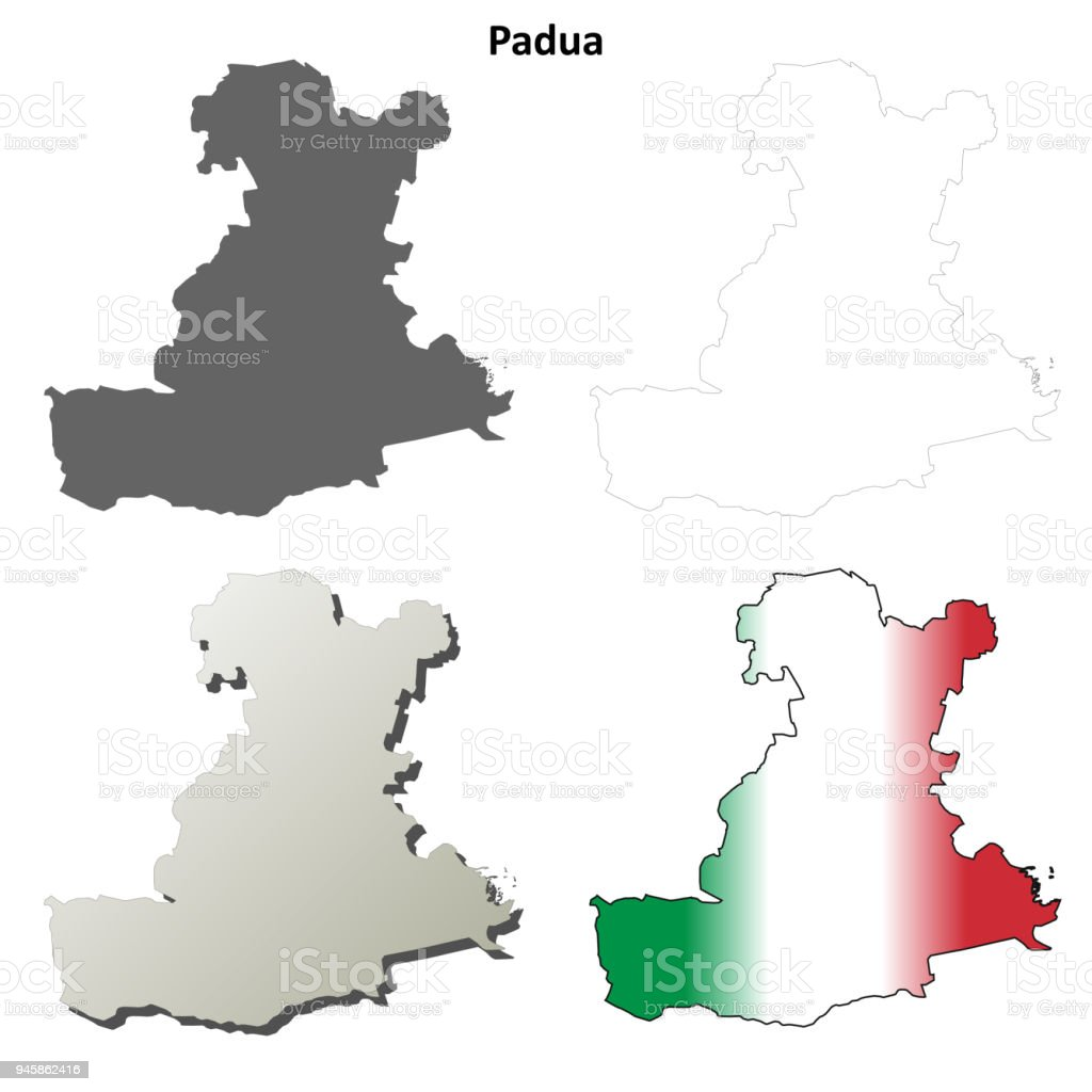 Padua Blank Detailed Outline Map Set Stock Vector Art More Images