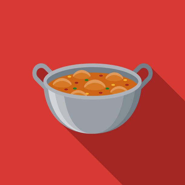 illustrations, cliparts, dessins animés et icônes de icône de design plat paella espagne - cuisine espagnole