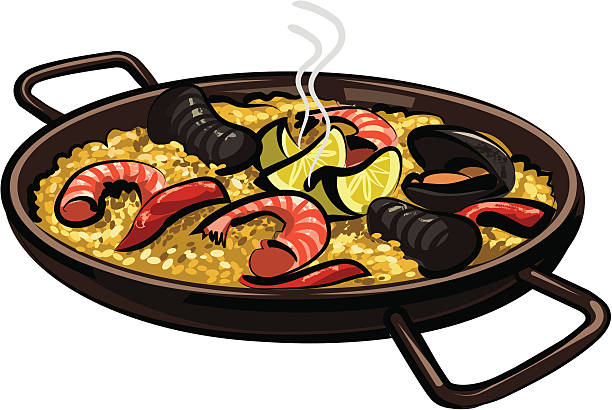 Best Paella Illustrations, Royalty-Free Vector Graphics ...