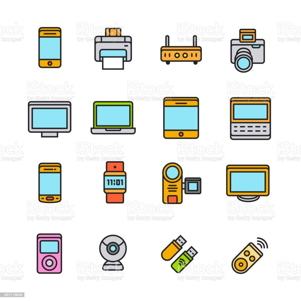 Paforo Icon Set: Gadget - Royalty-free Akıllılık Vector Art