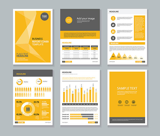 page brochure, flyer ,report Layout design template, and cover design vector art illustration