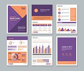 page brochure, flyer, report Layout template with info graphic