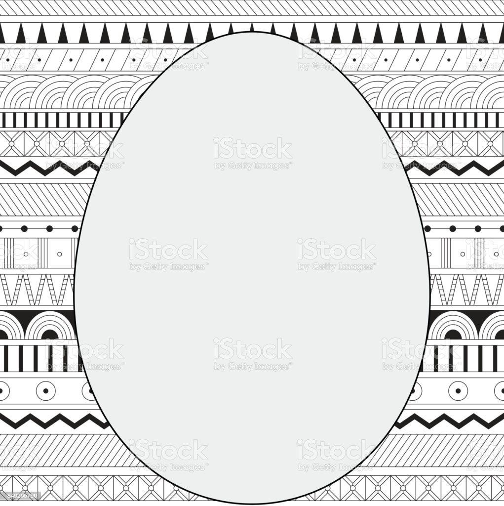 Kleurplaten Voor Volwassenen Tegels.Pagina Kleurplaten Voor Volwassenen Easter Egg Op Een Geometrische