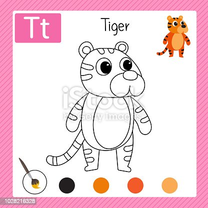 istock Página para colorear línea diseño vectorial, diseño de hoja de ...