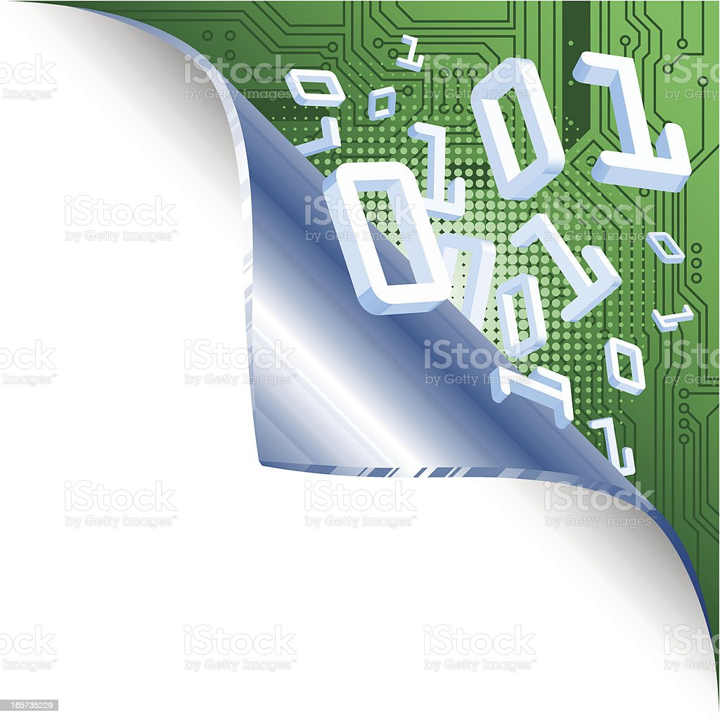 Page Curl - computer style royalty-free stock vector art