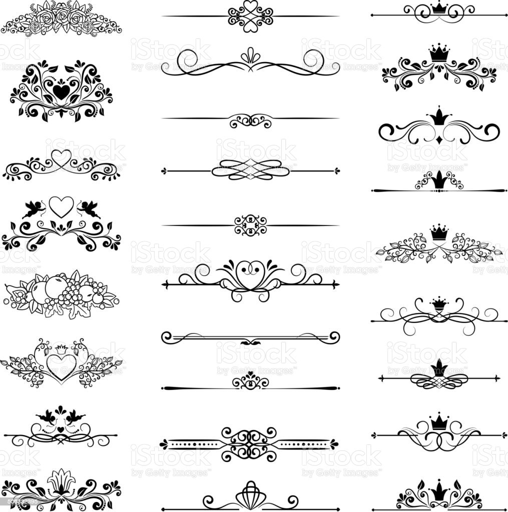 page decor with crowns vector art illustration
