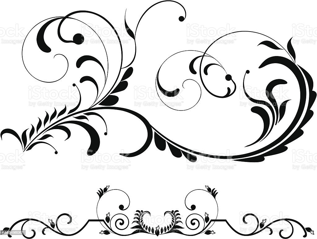 Page decoration X royalty-free stock vector art