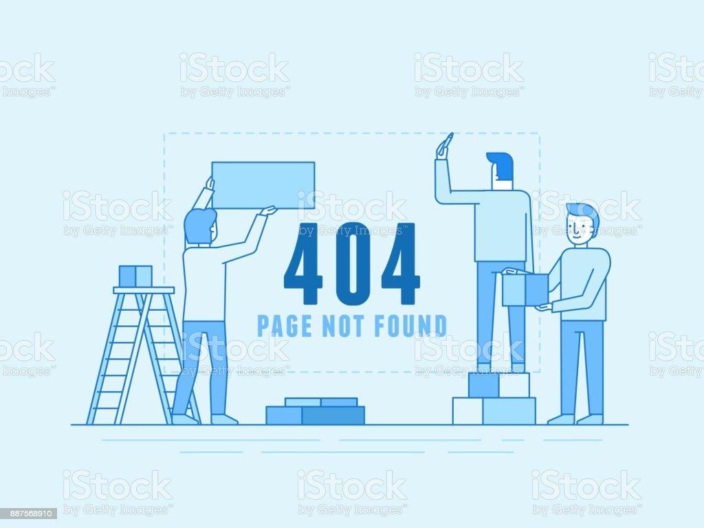 Modele De Conception De Page 404 Et De Site Web En Construction