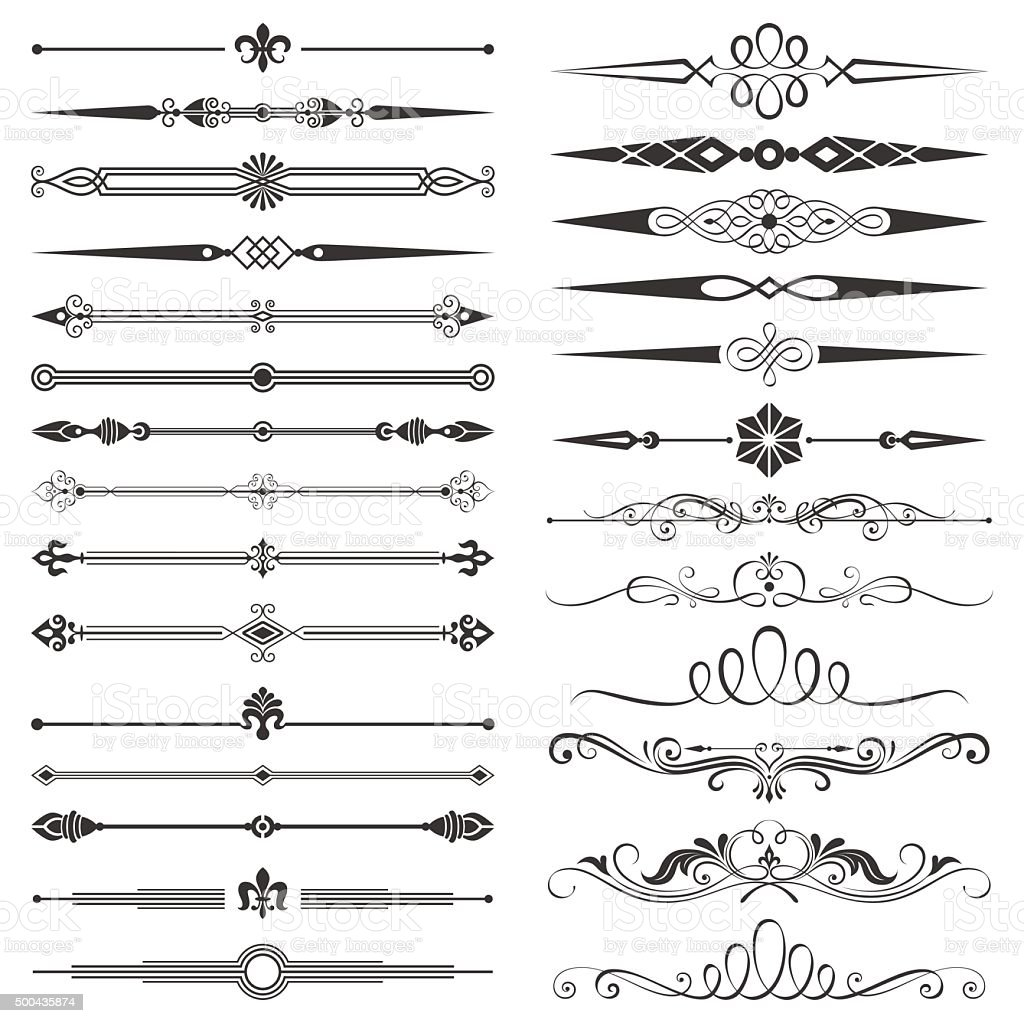 Page compartimenté et des éléments de Design Set - Illustration vectorielle