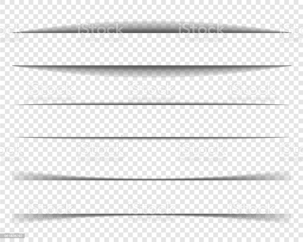 ページ区切り線セット、紙影、フレームの影。 ロイヤリティフリーページ区切り線セット紙影フレームの影 - からっぽのベクターアート素材や画像を多数ご用意