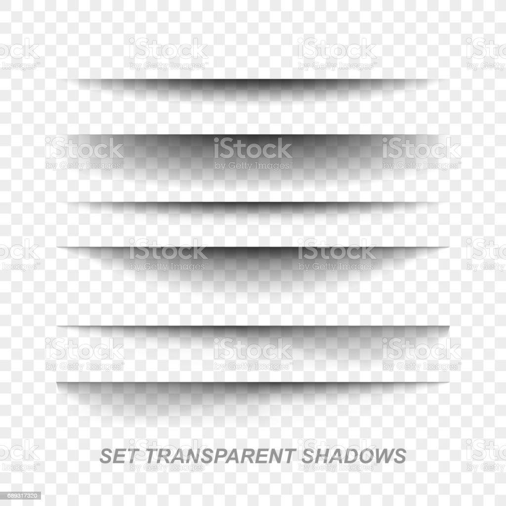 Divisor de página. Efeito de sombra transparente papel realista definido. Banner Web - ilustração de arte em vetor