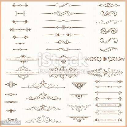 Page dividers and ornate elements. AI CS5, EPS 10 and JPG.