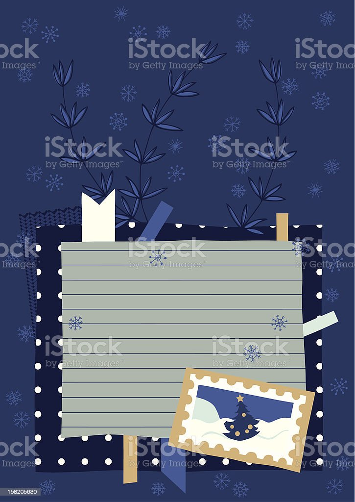 Page from Winter Diary royalty-free stock vector art