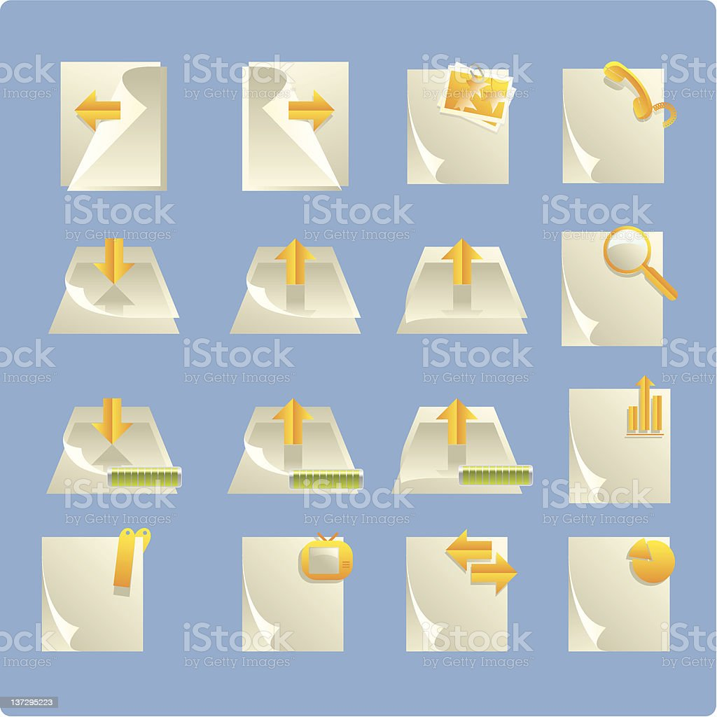 page icon royalty-free stock vector art
