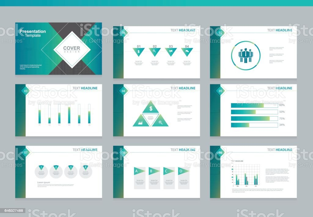 page layout design template for business presentation page