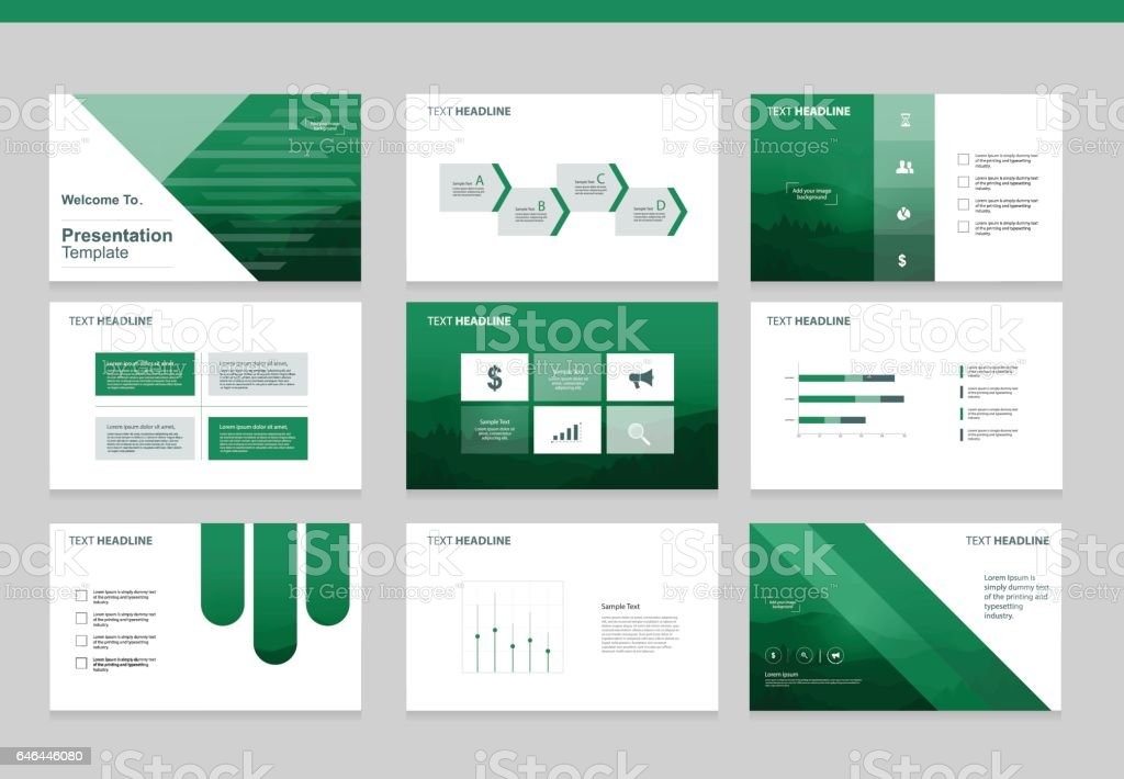 page layout design template for business presentation page with page