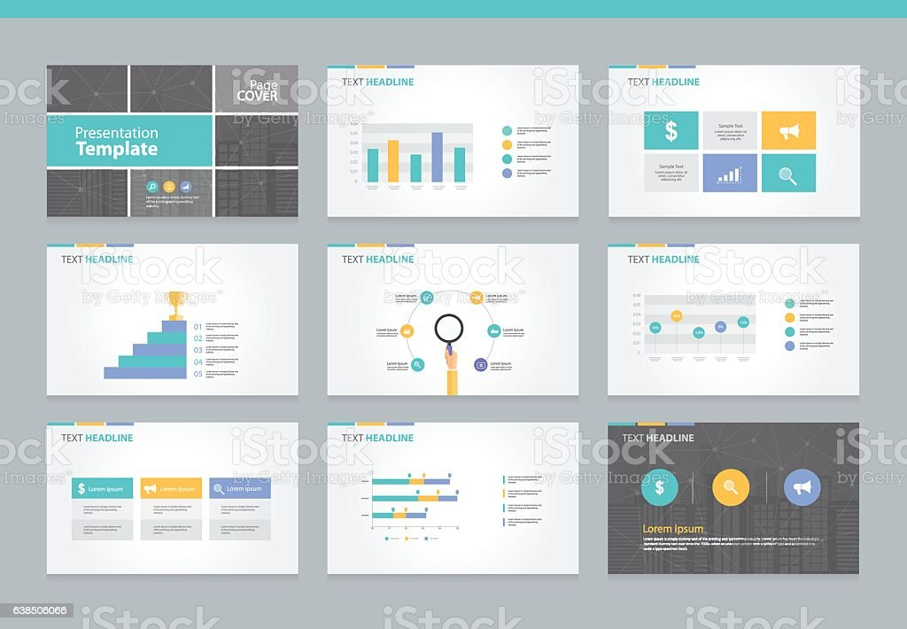 page layout design template for business presentation アイデアの