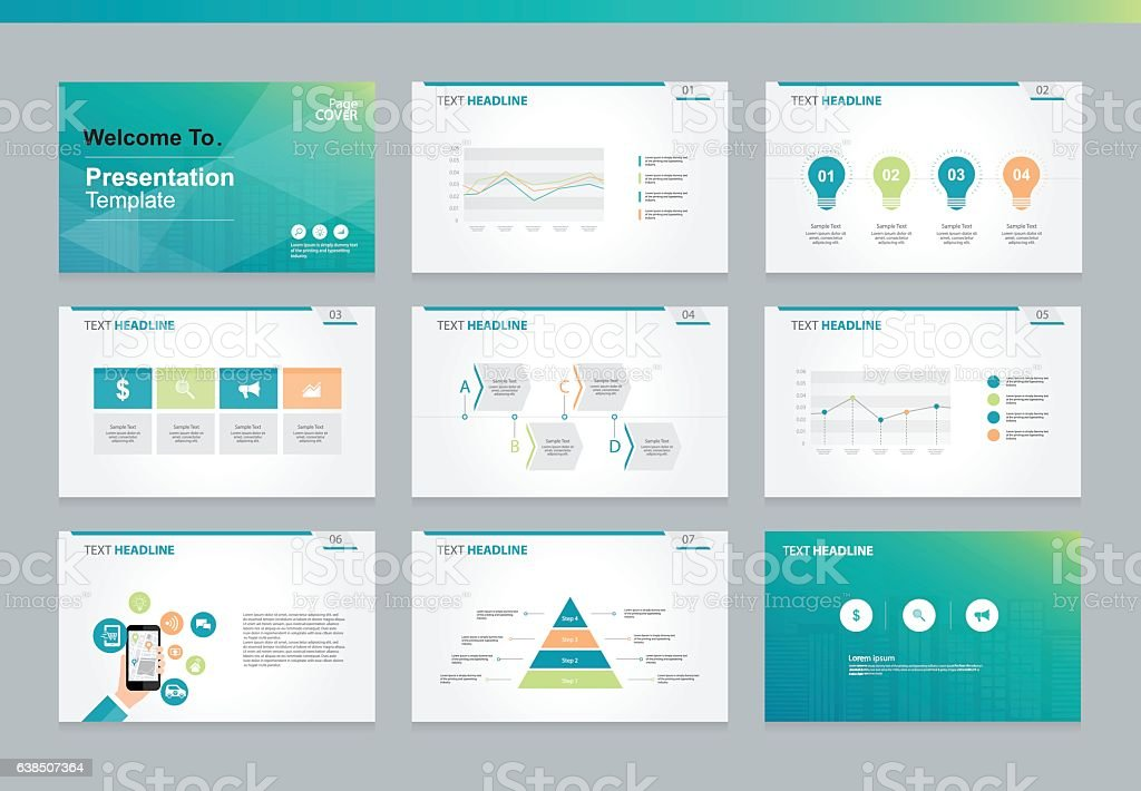 page layout design template for business presentation のイラスト素材