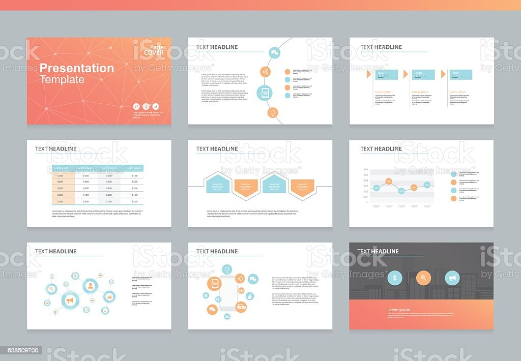 page layout design template for business presentation すべり台の