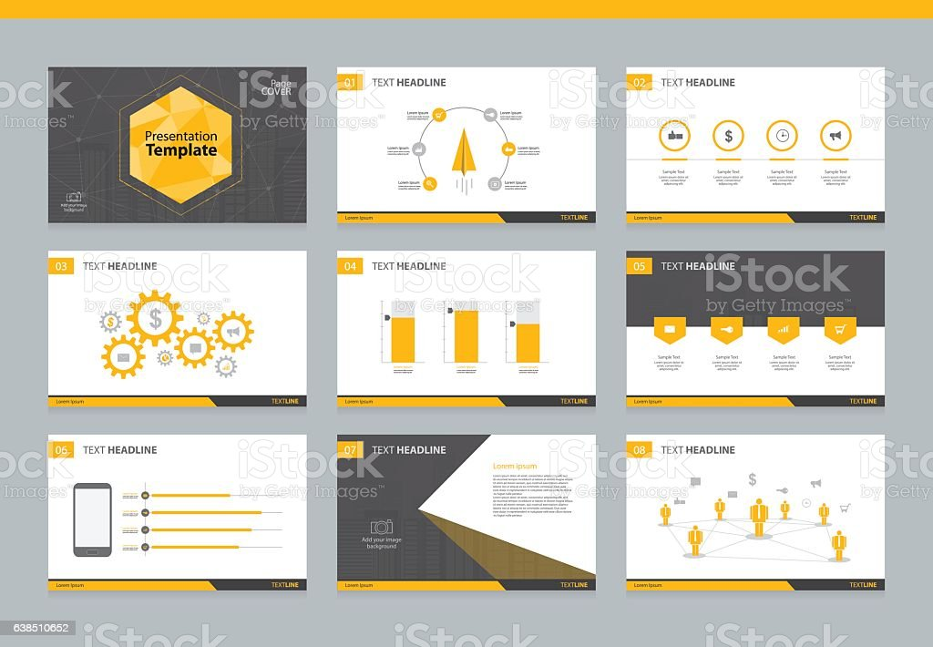 Page layout design template for business presentation – Vektorgrafik
