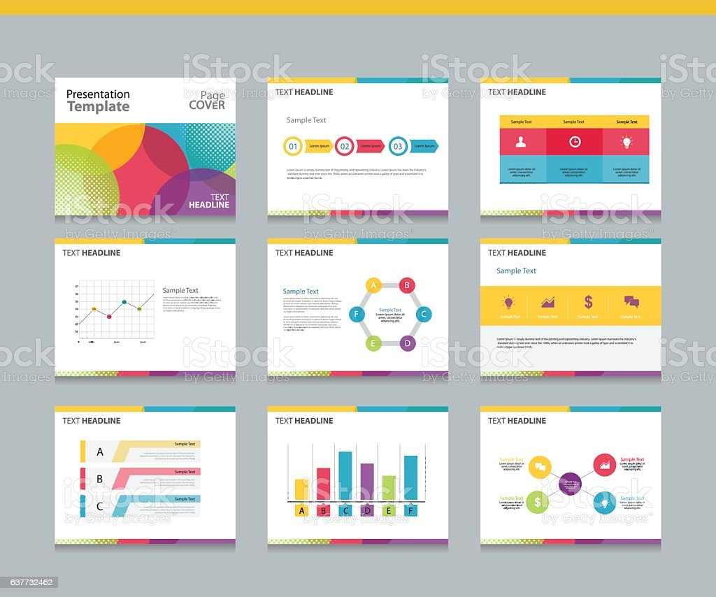 Page layout design template for presentation and brochure vector art illustration