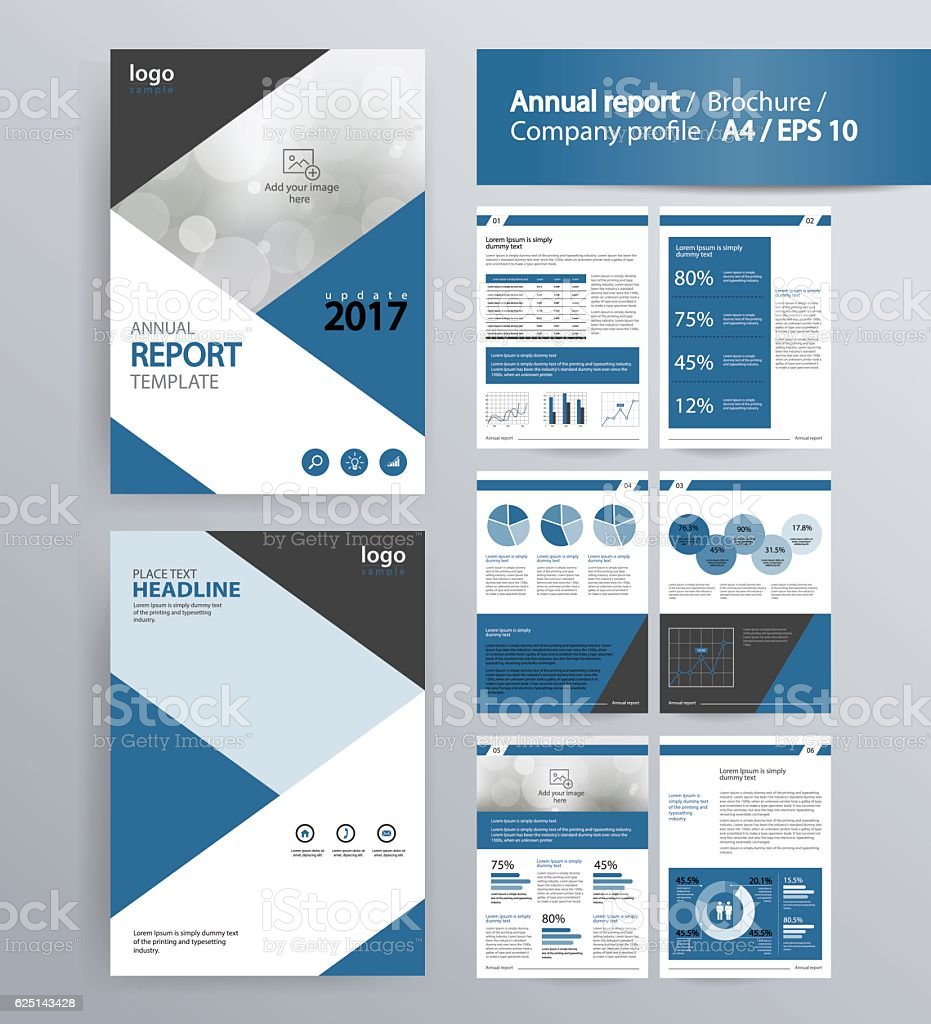 Page Layout For Company Profile Annual Report And Brochure Layout Template Stock Illustration