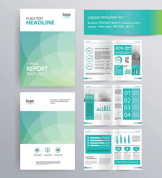 page layout for company profile, annual report, and  brochure, layout template. vector art illustration