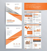 page layout for company profile, annual report, and  brochure, layout template.