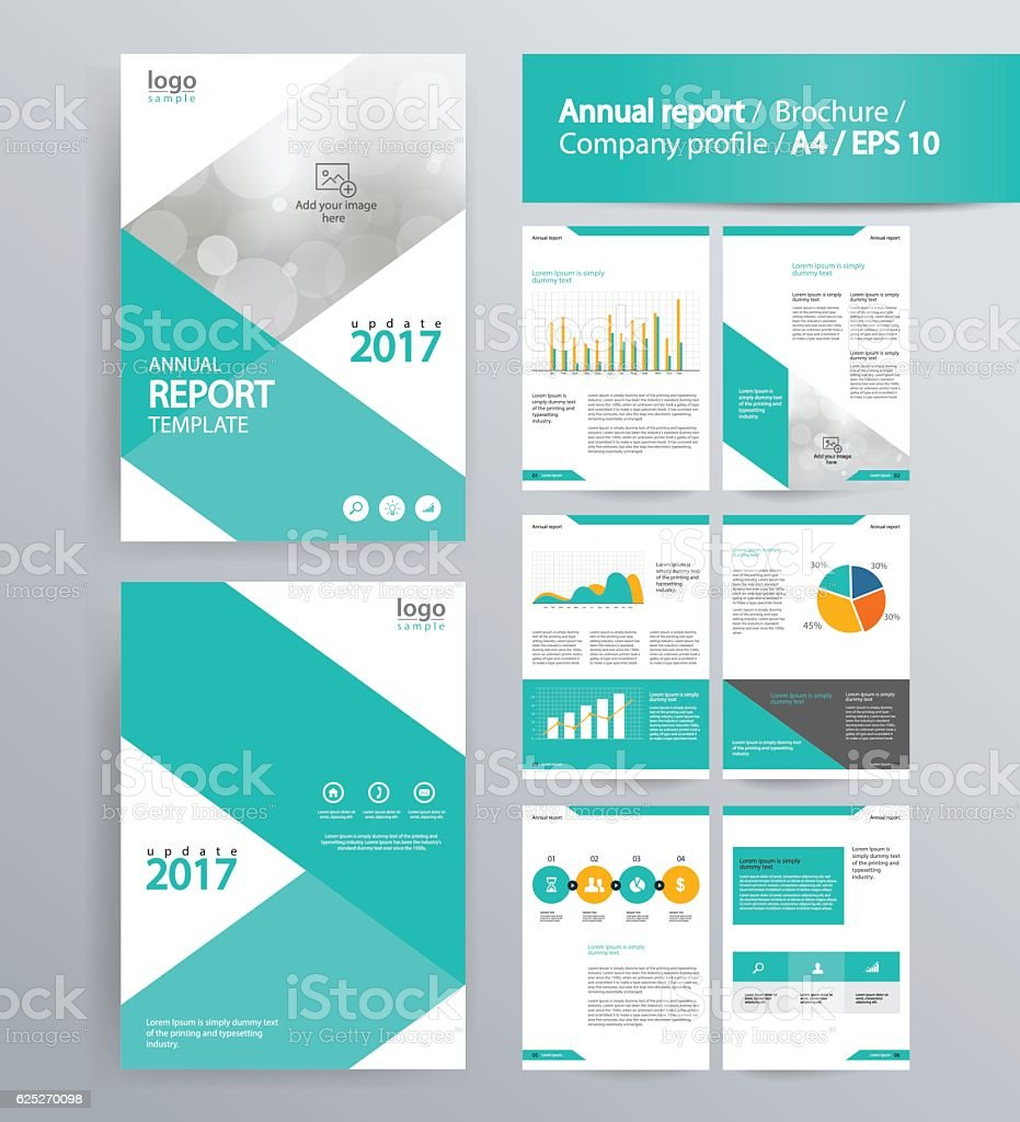 Page Layout For Company Profile Annual Report And Brochure Layout - 1 page brochure template