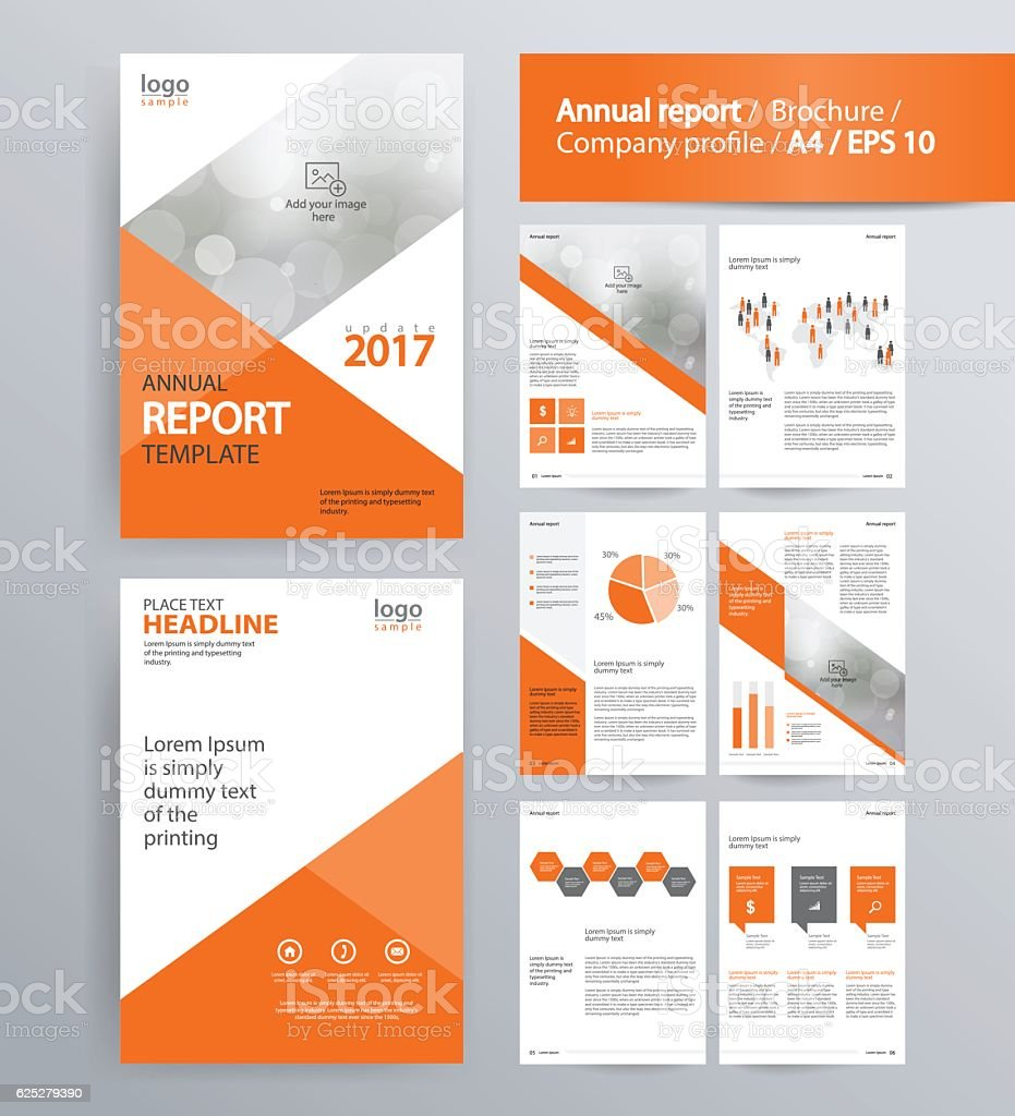 Page layout for company profile annual report and brochure for Company brochure template