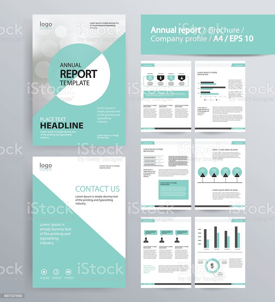 Page Layout For Company Profile Annual Report Brochure Stock Vector Art  U0026 More Images Of