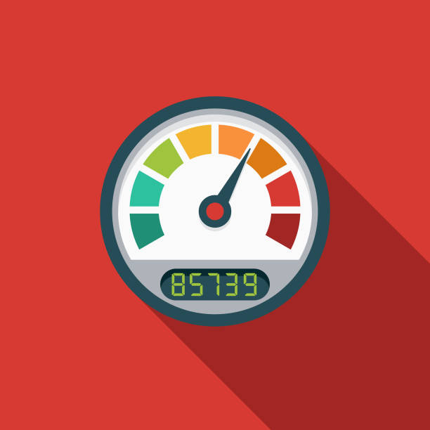 Page Load Speed Flat Design SEO Icon A flat design styled search engine optimization (SEO) icon with a long side shadow. Color swatches are global so it's easy to edit and change the colors. speedometer stock illustrations