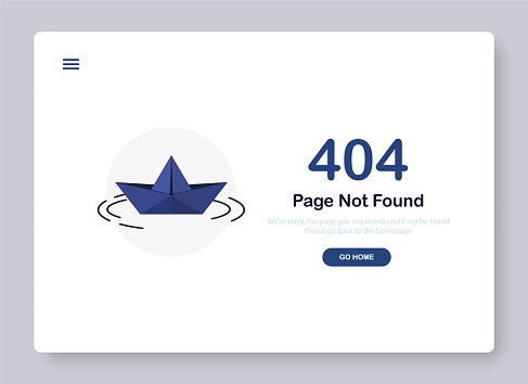 404 Page not found banner template
