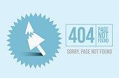Page not found Error 404 design for website