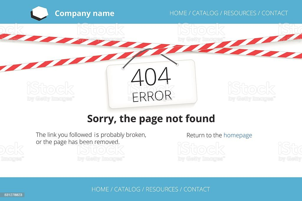 Page not found Error 404 vector art illustration