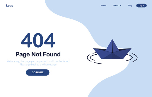 404 Page not found template