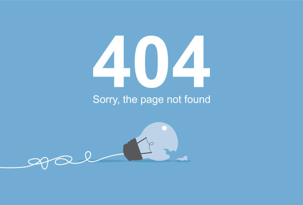 Page not found Cable, Computer, Computer Monitor, Error Message, Internet mistake stock illustrations