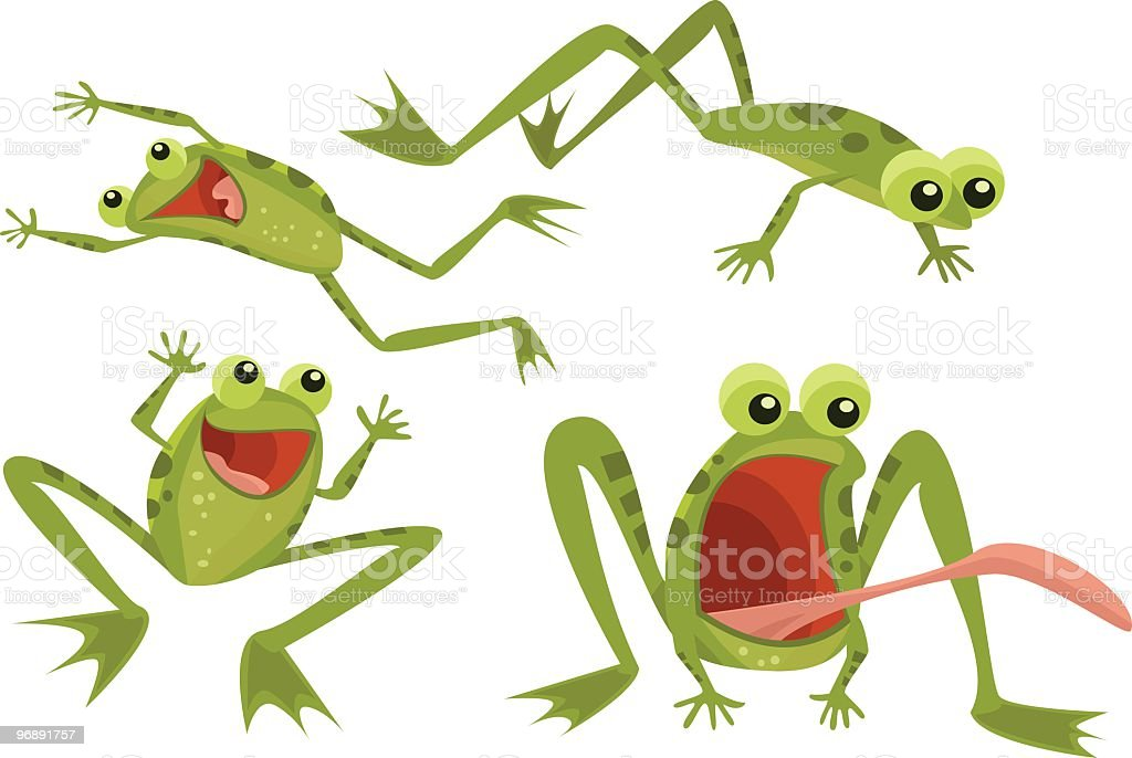 Page of Frogs vector art illustration