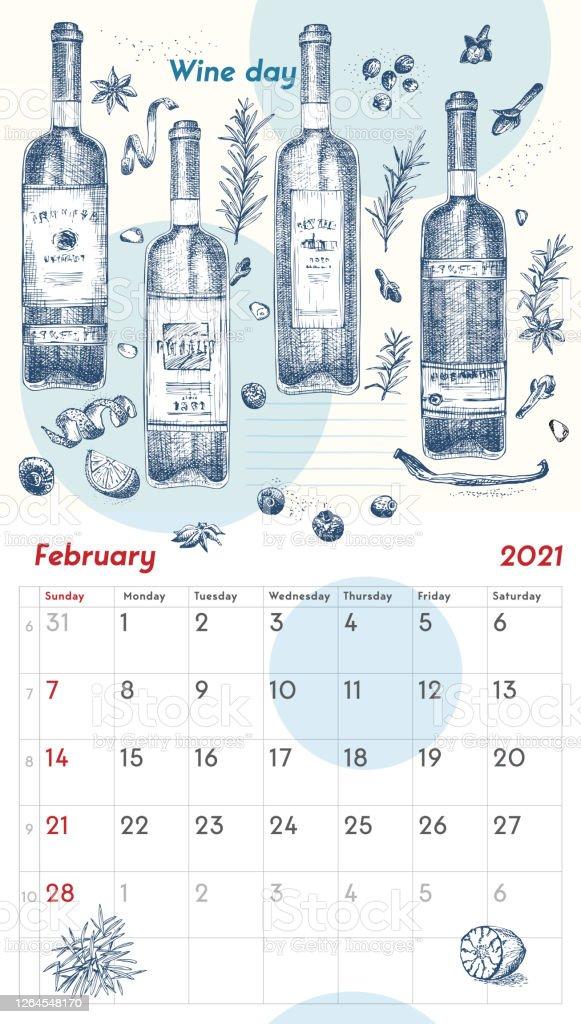 Ilustración de 2021 Página De La Pared Vintage Planificador De