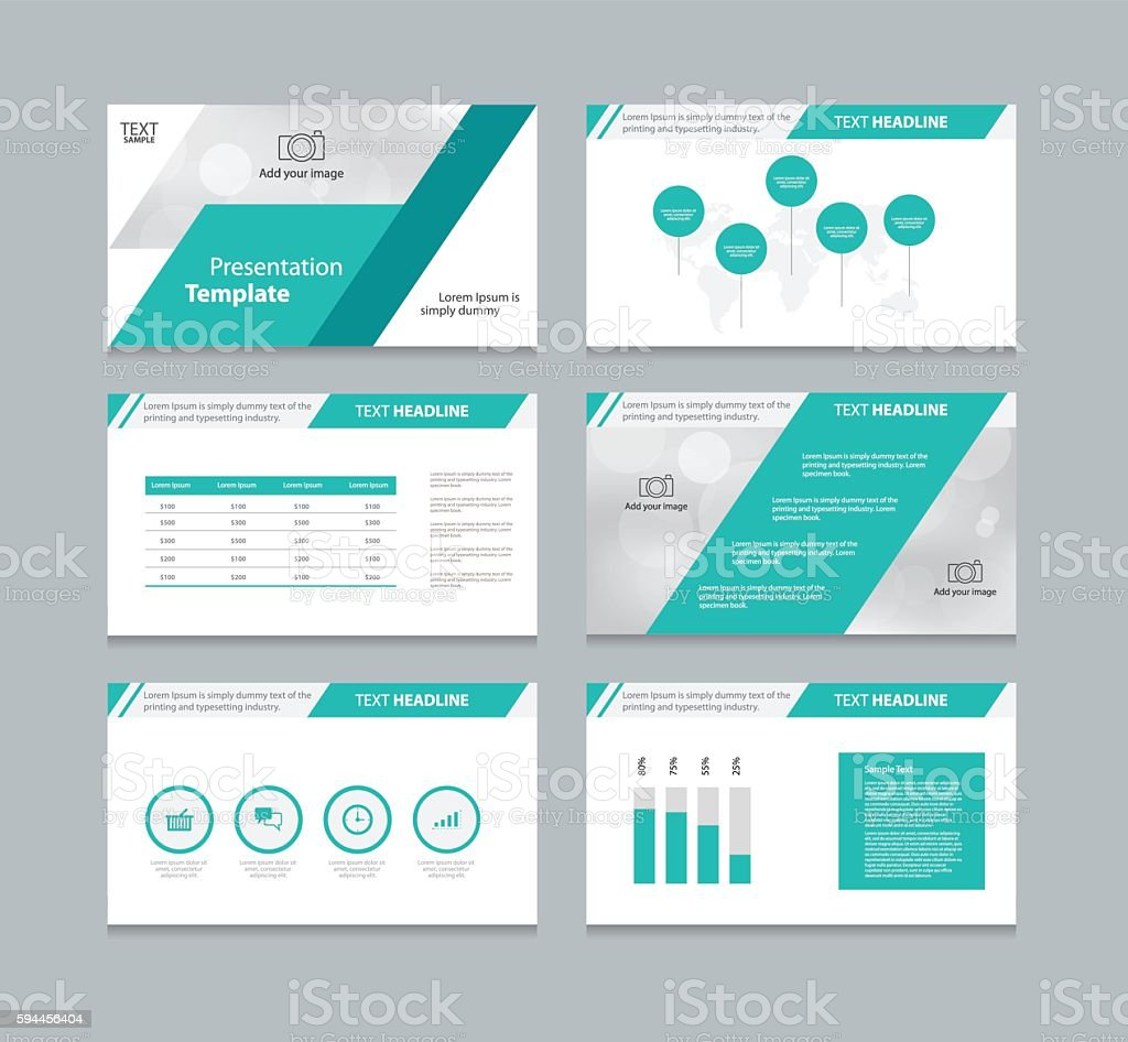 page presentation layout design template stock vector art more