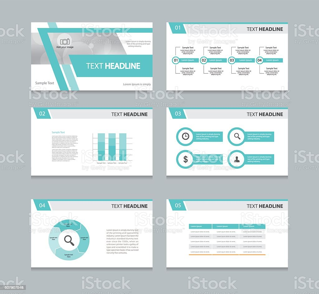 Page presentation layout design template stock vector art 607907548 istock - Photo image design ...