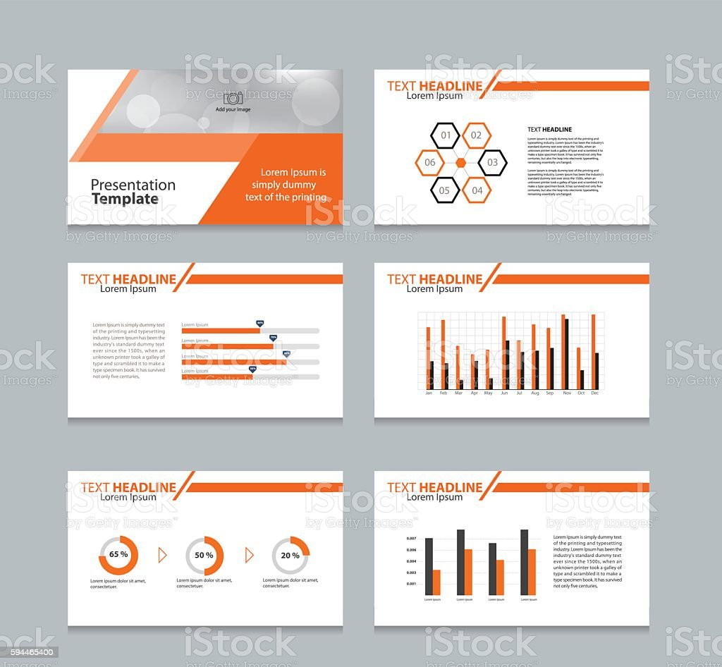 page presentation layout design template with info graphic